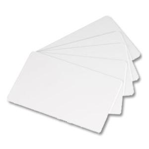 Karty plastikowe CR80 białe, opakowanie 500 sztuk