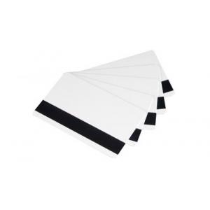 Karty plastikowe magnetyczne HICO,  CR80 białe, opakowanie 500 sztuk